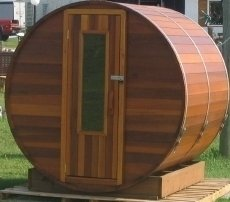 Barrel Sauna Kit - Outdoor Barrel Sauna Room 7' x 7' - Electric Heater