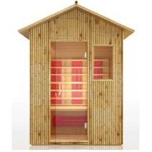 Outdoor Bamboo FIR Far Infrared Sauna Spa, 3 Person, All Weather Design