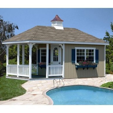 Pool House with Porch