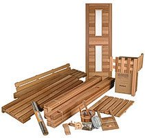 DIY Sauna Kit 6' x 6' - Complete Sauna Room Package -6 Kw Electric Heater