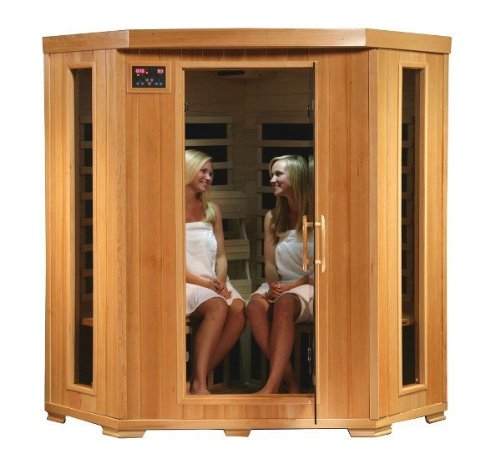 Corner Infrared Sauna with 4 Person capacity sauna room